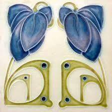 Image result for art nouveau tiles Motifs Art Nouveau, Azulejos Art Nouveau, Design Art Nouveau, Ceramic Tile Art, Art Tiles, Porcelain Tiles, Ceramics Tile, Delft Tiles, Jugendstil Design
