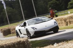 Lamborghini Gallardo Accelerates onto the 'Lozenge' straight