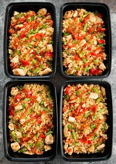 Sriracha Cauliflower Fried Rice is easy to make in large batches ahead of time for your weekly meal prep. It's low carb, gluten-free and also tasty and filling. I love making cauliflower rice. It's quicker for me to prepare than regular rice and it's heal Healthy Meal Prep, Healthy Dinner Recipes, Low Carb Recipes, Healthy Eating, Cooking Recipes, Keto Meal, Clean Eating, Easy Lunch Meal Prep, High Protein Meal Prep