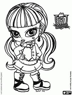 Baby monster high to print to colour