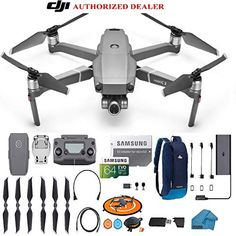 DJI Mavic 2 PRO Drone Quadcopter with Hasselblad Camera HDR Video UAV Adjustable Aperture Bundle Kit with Must Have Accessories (Silver) Drones, Dji Quadcopter, Antenna Gain, Pilot, Drone Technology, Mavic, Video Camera, Aperture, Sd Card