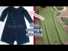 How to make tunic top/ Tunic Top cutting andstithingbyFizza Mir - YouTube Tunic Designs, Dress Neck Designs, Loki Dress, Plaid Tunic, Layering Outfits, Embroidered Jacket, Cut Shirts, Red Blouses, Types Of Sleeves