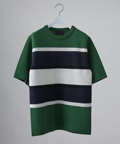 【STUDIOUS HIGH】(ステュディオス ハイ)バスケットボーダーニットTシャツの通販 | STUDIOUS ステュディオス(107130013) | STUDIOUS ONLINE STORE