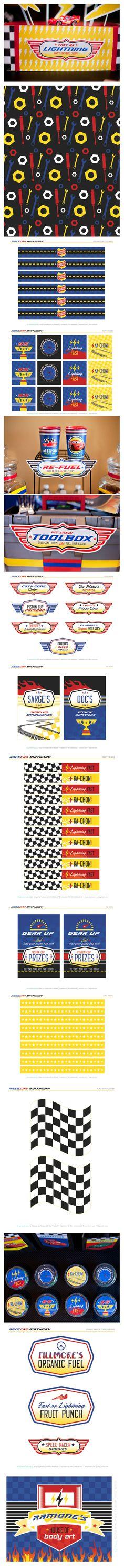 un kit complet pour une fête, mais aussi beaucoup de choses à utiliser dans nos albums : papier, cartes et motifs divers plairont à tous les fans de Cars !...