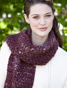 1b01ad4841bdb3 Corrugated Scarf - free Patons crochet pattern at Yarnspirations