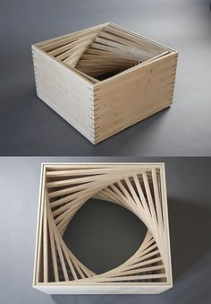 Parabola Coffee Table - when I first saw this I thought it was made out of Popsicle sticks - how cool would that have been?