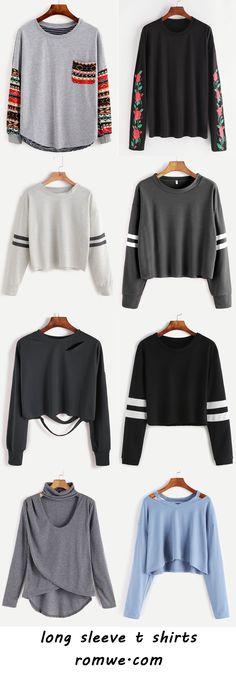 long sleeve t shirts 2017 - romwe.com