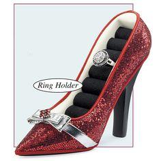 Red Shoe Ring Holder