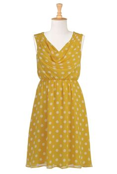 This is not in your colors scheme but it is VERY pretty and a little more in line with your sisters' dresses. Oh, and It's YELLOW POLKA DOTS like sunshine covered in happy