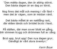 I rörelse, Karin Boye