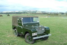 This is what the Land Rover looked like when it was fully restored by Mr Furkert over the ...