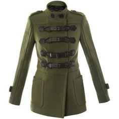 Burberry green Prorsum coat