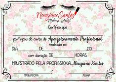 Certificado de maquiagem/ automaquiagem