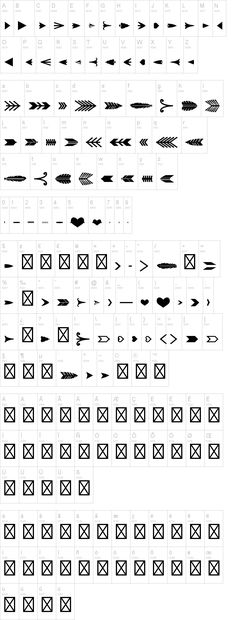 Mix and match arrow font