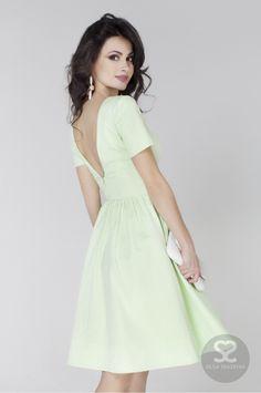 Летнее платье с открытой спиной из хлопка в интернет-магазине дизайнера   Skazkina