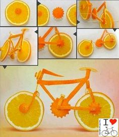 Oranges Fahrrad - Vitamin F fürs den Winter ;)