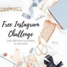 Free Instagram Challenge - Gain 300 new followers in one week.  #affiliatelink Free Instagram, Instagram Tips, Instagram Accounts, Facebook Marketing, Social Media Marketing, More Instagram Followers, Instagram Challenge, One Week, Coaches