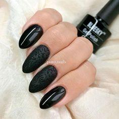 I 💜 back nails ❤  💙 DC83 @blueskypolska 💙  💖💖💖  #nailart #nailsoftheday #nails #blacknails #instanail #nailporn #nailpolish #hybrydnails #gelpolish #hybrydymanicure #hybrydki #piękne #czarnepaznokcie #sugareffect #paznokciehybrydowe #paznokcie #pazurki #pazurkihybrydowe #polishgirls #ilovenails #blueskypolska
