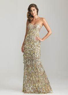 Gold Evening Gown with train - Gold evening dresses and long gold ...