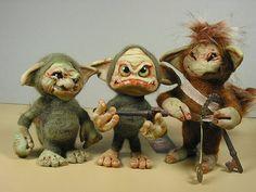 polymer clay trolls dolls creatures