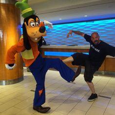Hell ya #goofy & I #bigsteppin at #disneyland :)
