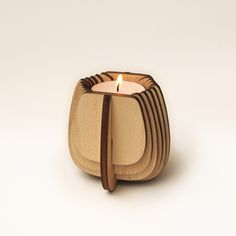 Laser cut Ply Candle