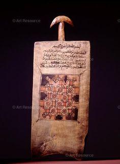 Koranic slate with magic square. Photo Werner Forman