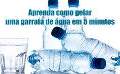 Como gelar água em 5 minutos? Água gelada muito rápido #água #águagelada #dicas #verão #comofazer