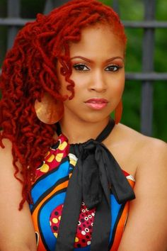 Fire locs!  This color is everything!