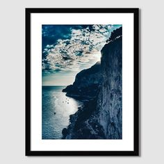 Amazing photo of the Italian, cliff-lined coast, taken by photographer Courtney Crane (collaboration West Elm with Minted)