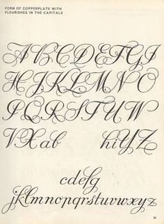 Image result for copperplate capital flourishes