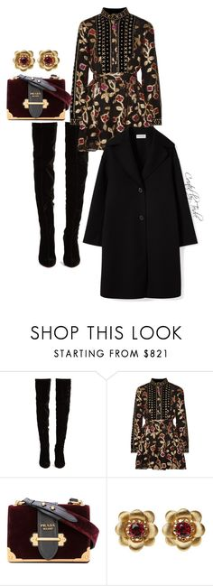 """""""Untitled #652"""" by lovelyladylateidre ❤ liked on Polyvore featuring Christian Louboutin, Dodo Bar Or, Prada and La Perla"""