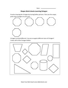 preschool and kindergarten worksheet for color and shape recognition and word tracing let your. Black Bedroom Furniture Sets. Home Design Ideas