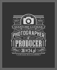 Photographer & Producer Typography design inspiration