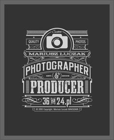 Photographer & Producer Typography design inspiration