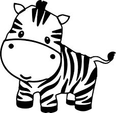 cute zebra illustration google search rh pinterest com free clipart zebra free zebra face clipart