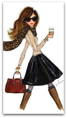.GIVEAWAY! Fashion Illustration by Anum Tariq | Erika Brechtel | Brand Stylist