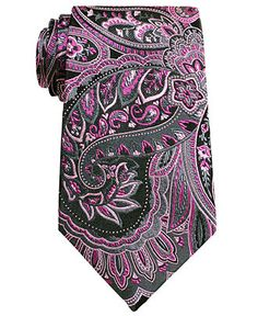 Geoffrey Beene Big and Tall Tie, Charcoal Paisley - Mens Ties - Macy's