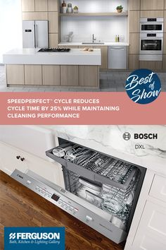 Build Your Dream Kitchen With Bosch 500 Series, Which Includes  SpeedPerfect™ Cycle Which Reduces