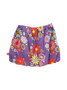 ej sikke lej Hippie Flowers Skirt Purple
