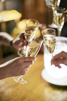 A toast to a beautiful shared champagne experience...