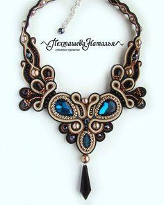 Soutache Necklace, Tassel Earrings, Shibori, Funny Art, Beaded Embroidery, Handmade Necklaces, Boho Jewelry, Tattoo Designs, Jewelry Making