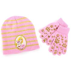 c283e861abd8 Disney Nickelodeon Mattel Girls Youth Hat and Gloves Set (Little Kid Big  Kid) Pink Aurora   Beauty · Princess Palace PetsBlack ...