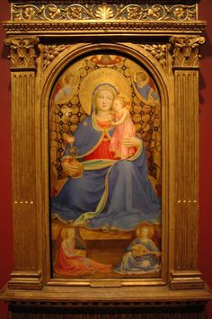 Fra Angelico: Virgin & Child Blessed Mother Mary, Blessed Virgin Mary, Italian Renaissance Art, Fra Angelico, Queen Of Heaven, Madonna And Child, Religious Art, Our Lady, Christianity
