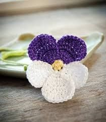 Image result for crochet pansy flower pattern