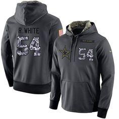 NFL Men s Nike Dallas Cowboys  54 Randy White Stitched Black Anthracite  Salute to Service Player ef3e2629c