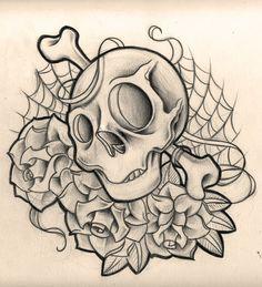 skulls n roses by WillemXSM on @DeviantArt