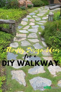 Copy these ideas for building a walkway in your yard.