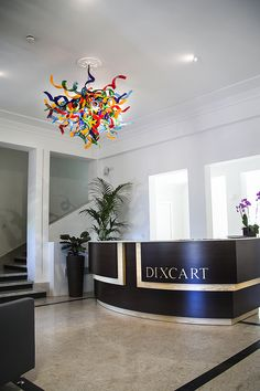The range of handmade glass chandeliers created by Mdina Glass