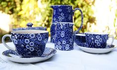 Burleigh Blue Calico China